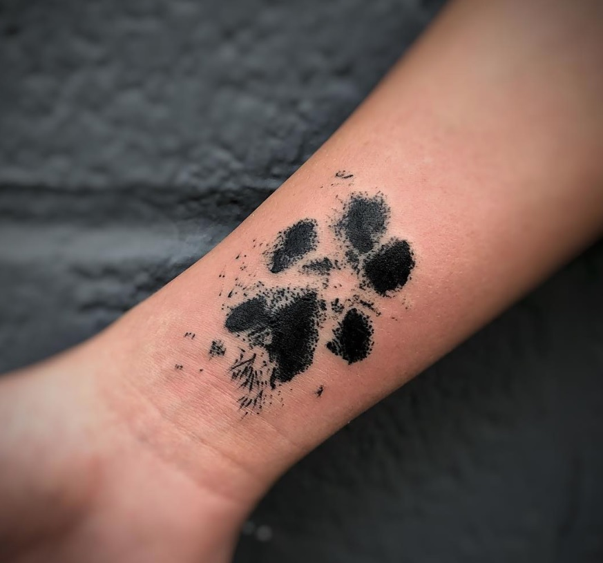 Dog Paw Print Tattoos On Foot: 70+ Best Paw Print Tattoo Ideas For Dog Lovers
