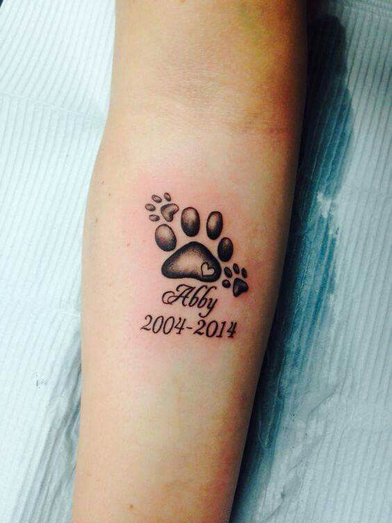 30 Cool Dog Memorial Tattoos | The Paws