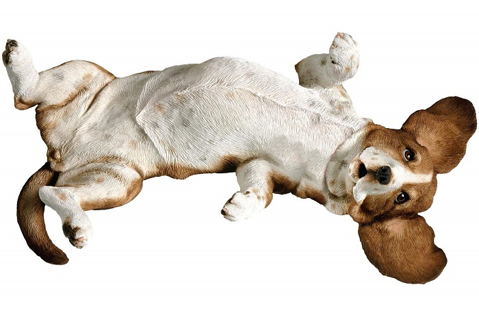 Basset Hound Sculpture Lying Back