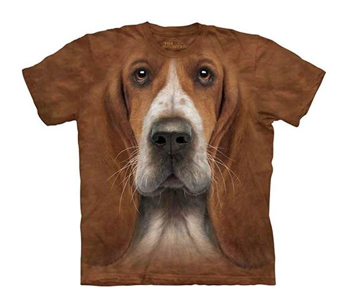 The Mountain Basset Hound Face T-Shirt