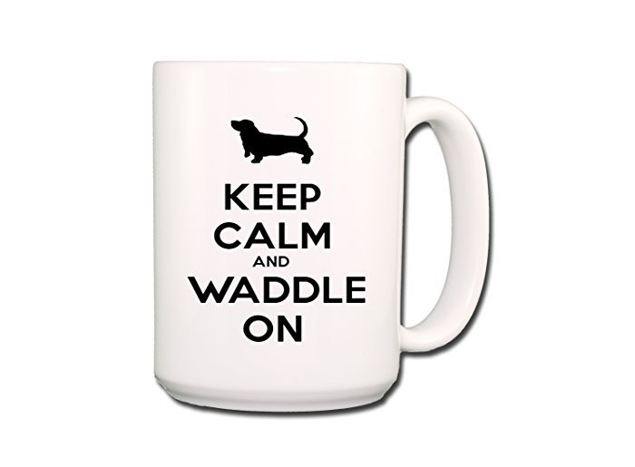 Basset Hound Keep Calm and Waddle Mug
