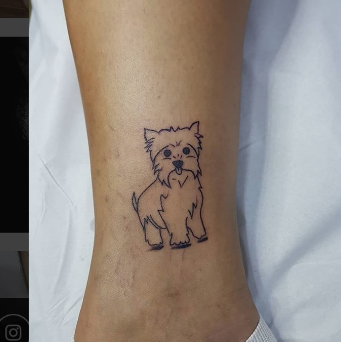30 Best Dog Outline Tattoo Designs | Page 2 of 5 | The Paws