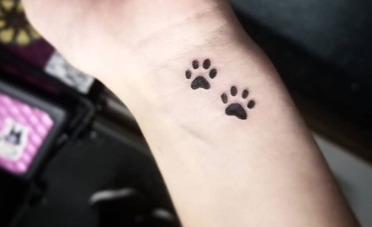 25 Best Dog Paw Print Tattoos On Wrist Page 3 The Paws