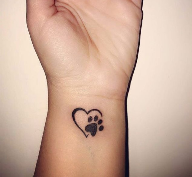 Pet Paw Print Tattoo