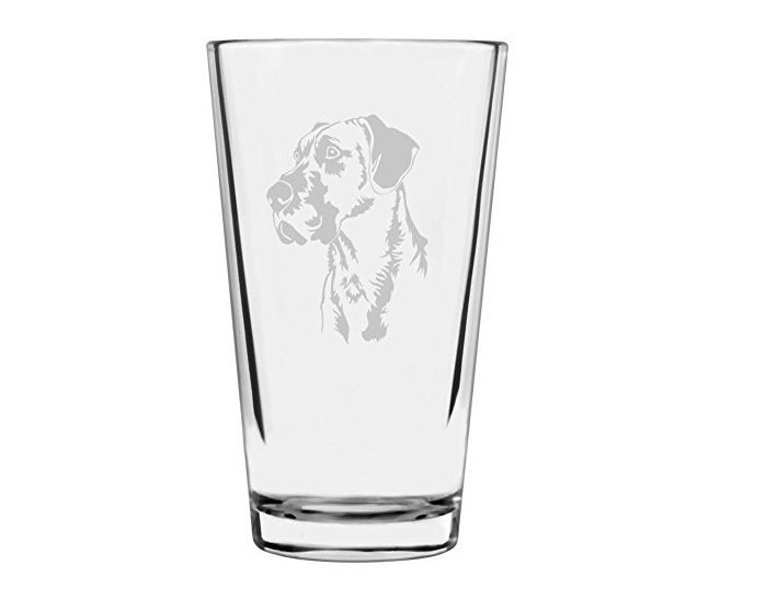 Great Dane Dog Themed Etched Glass