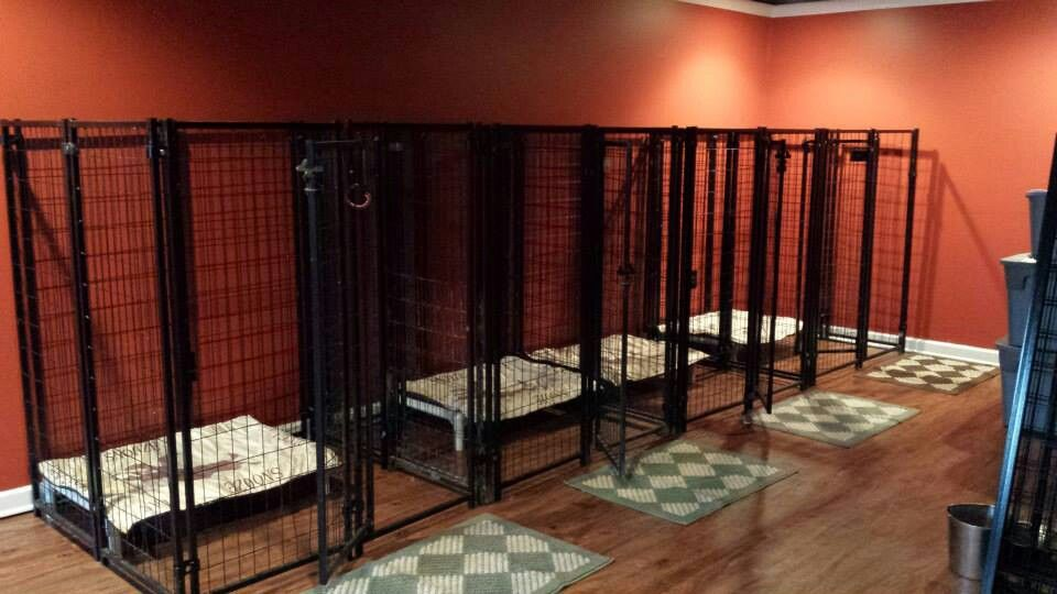 Large indoor dog kennel, Dog kennel in garage idea, Chain link dog kennel panels