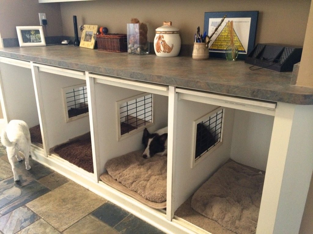 Custom indoor dog kennel