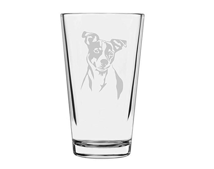 Jack Russell Terrier Etched Glass