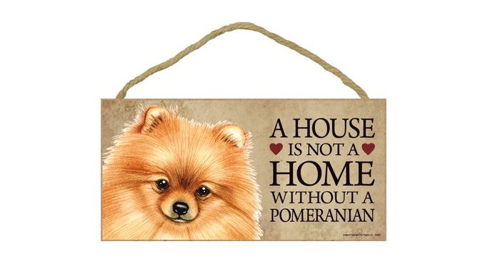 A House is Not a Home Without Pomeranian - Door Sign