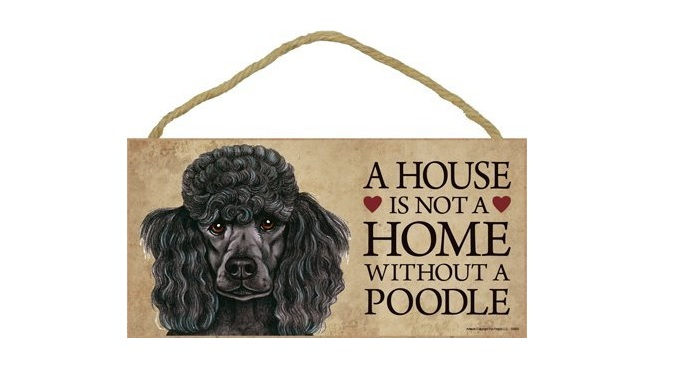 Poodle Door Sign