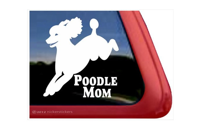 Poodle Mom Decal Sticker