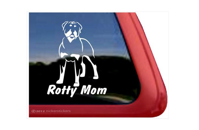 Rotty Mom Decal Sticker