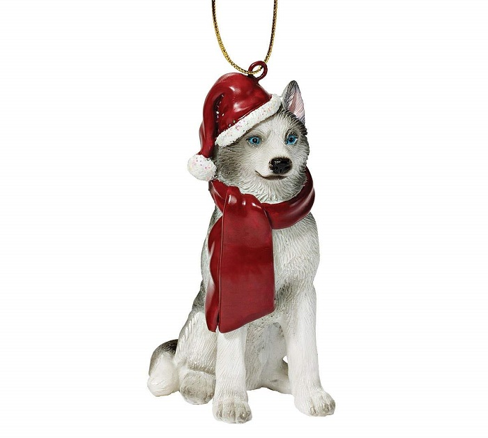 Husky Christmas Tree Ornament