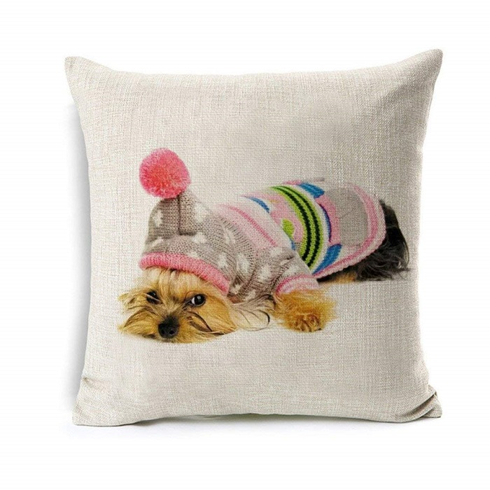 Yorkie Throw Pillow Cover