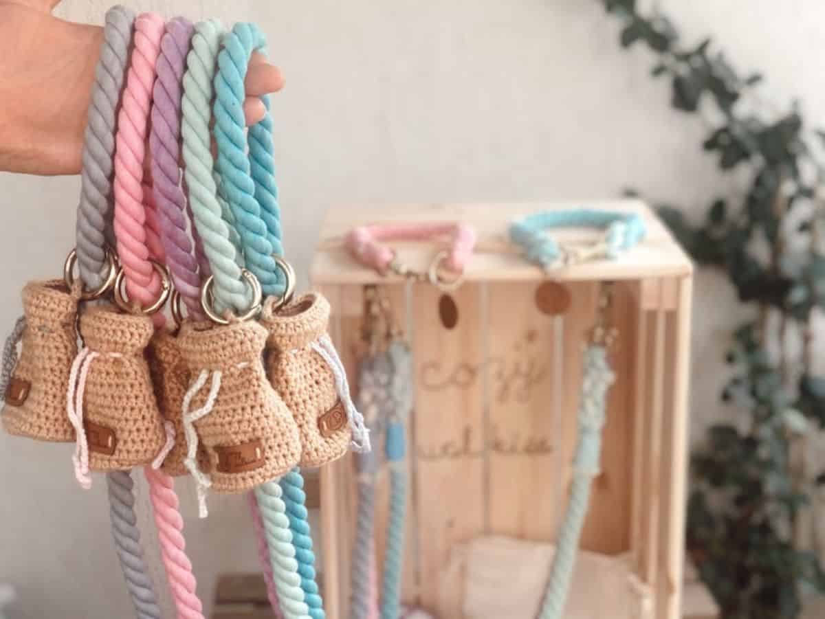 cotton rope dog leash