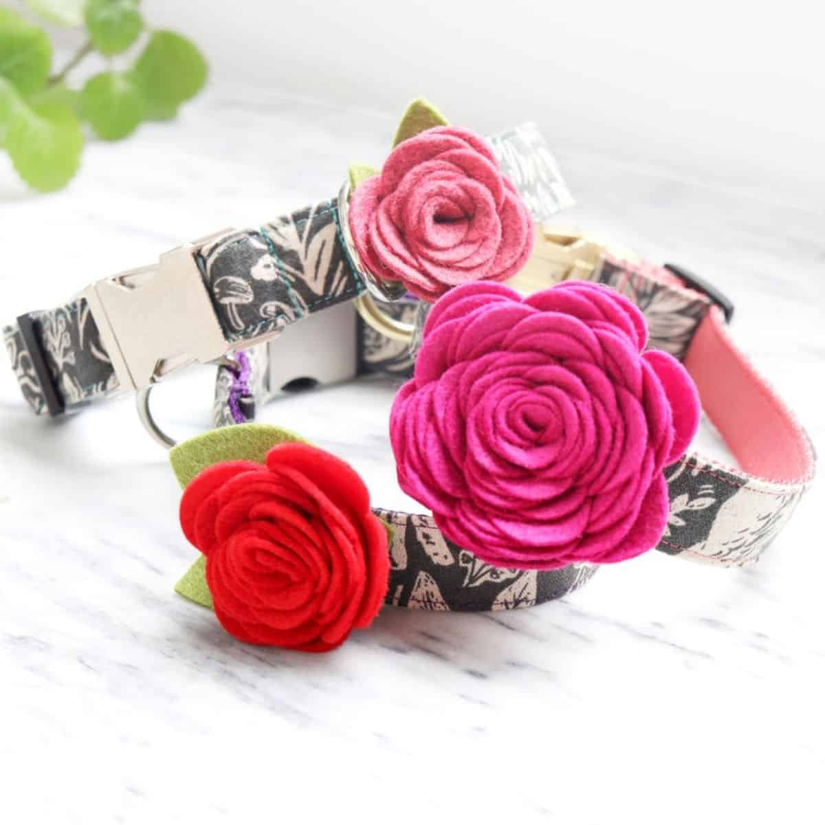 Rose Flower Collar Attachment