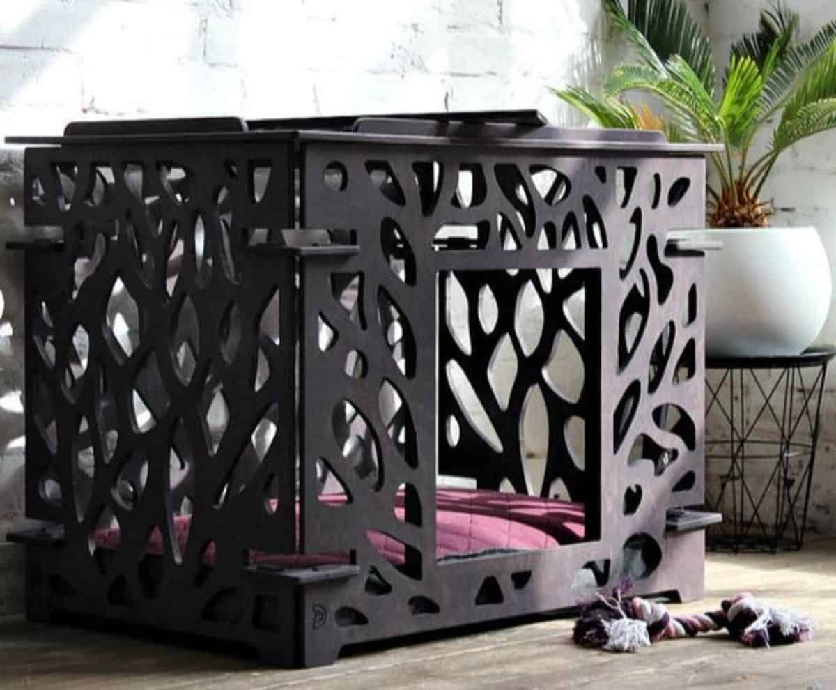 beautiful dog crate