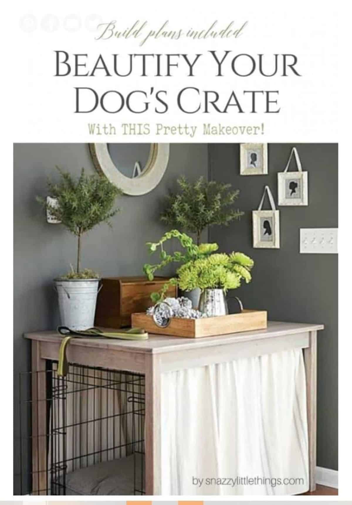 DIY Beautify Dog Crate