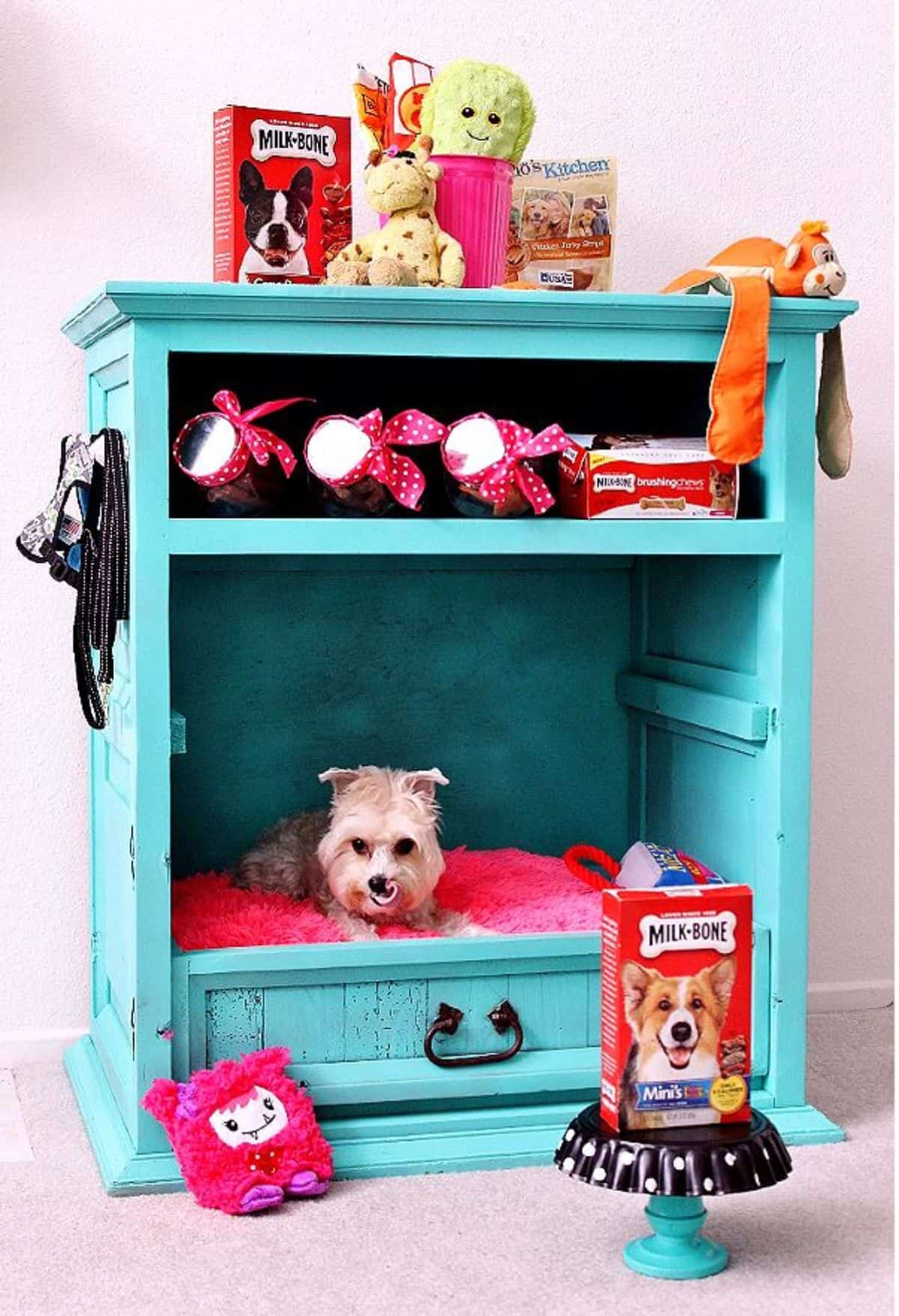 cabinet dog crate