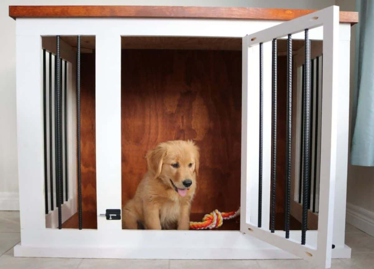 DIY countertop dog crate