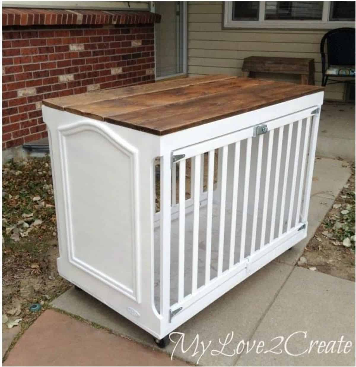 DIY dog crate from crib