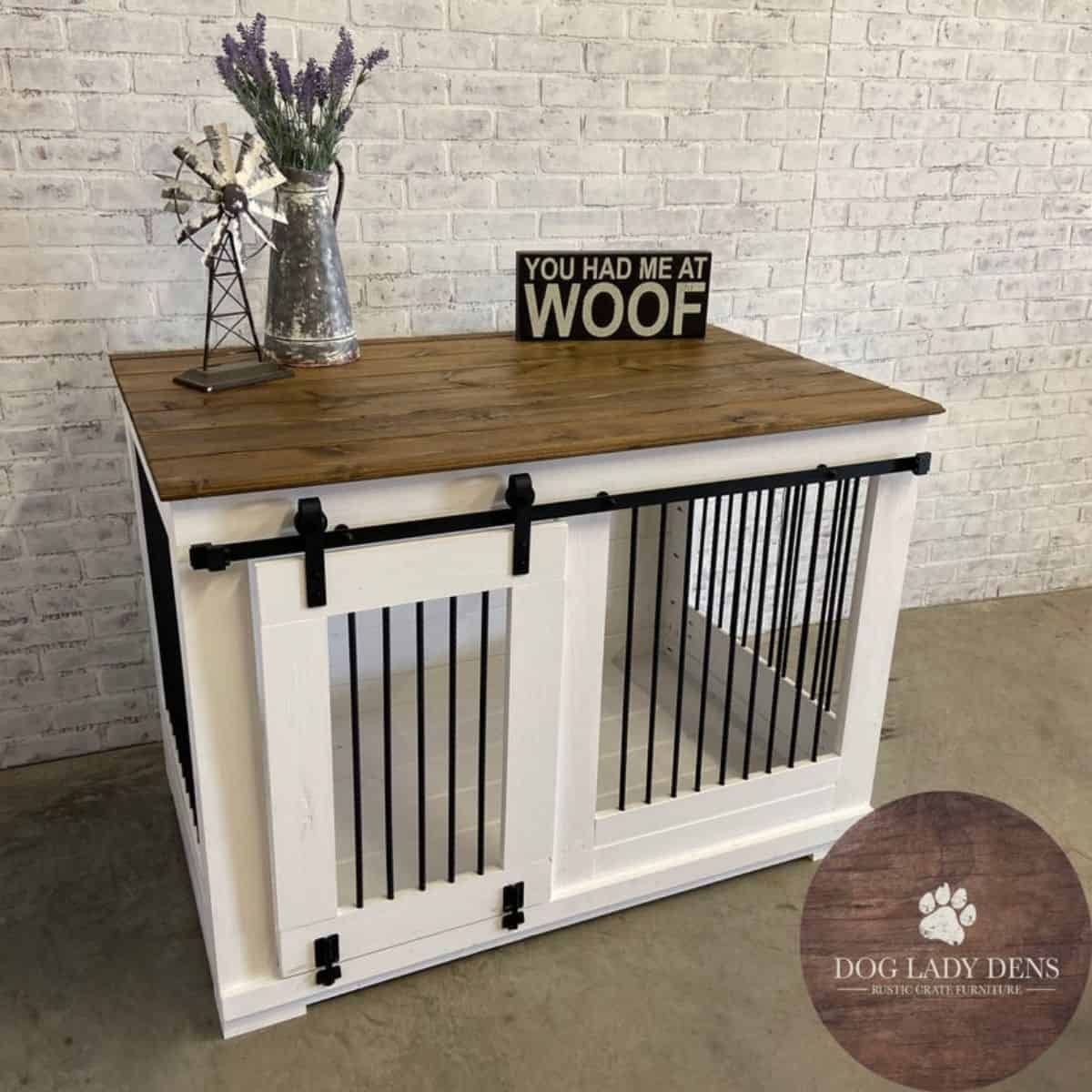 dog crate bran sliding door