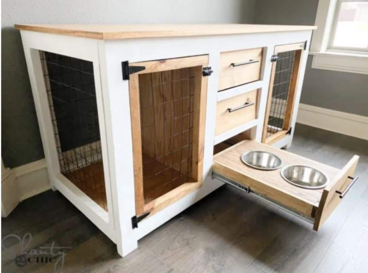 DIY dog crate console