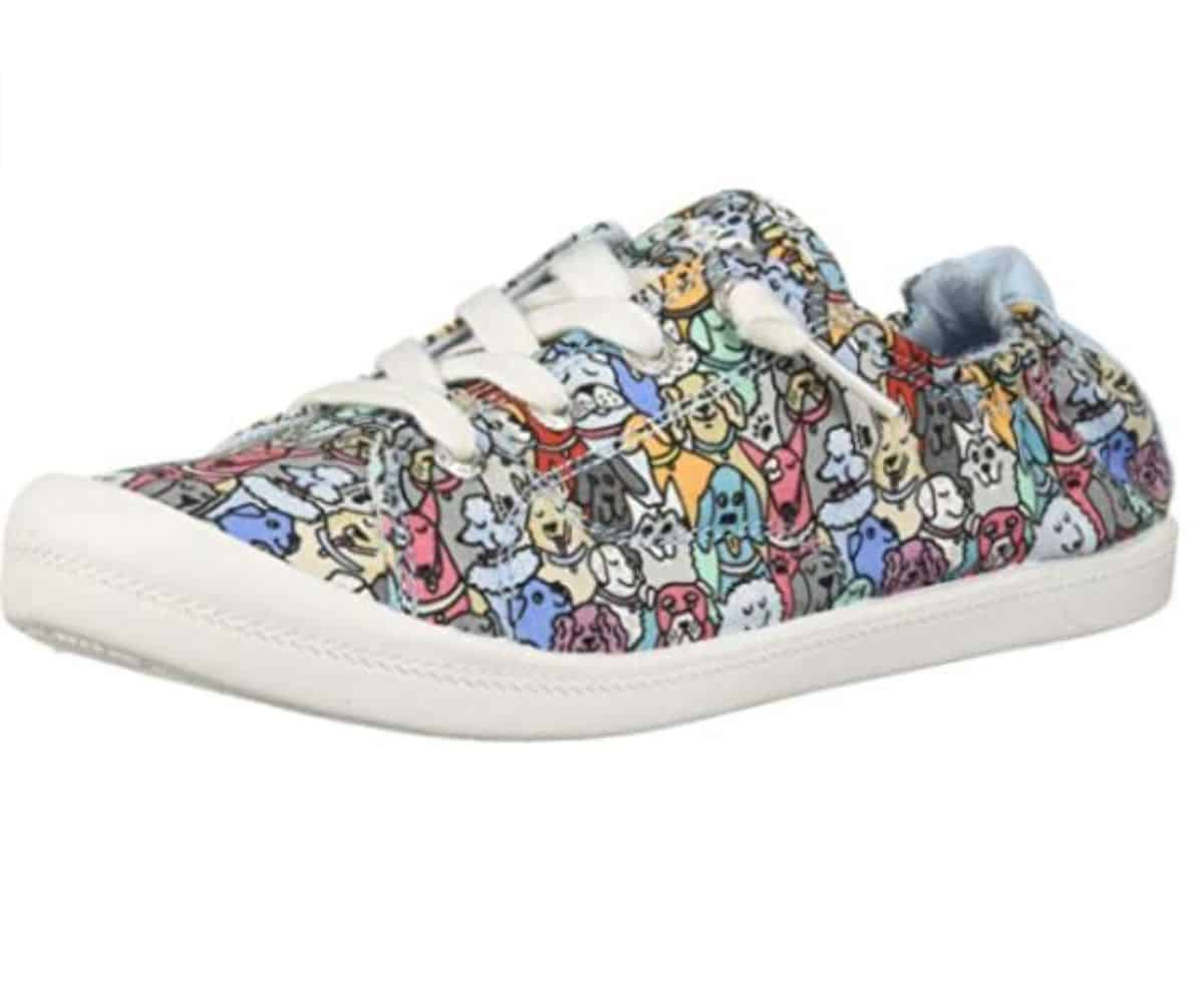 shoes with dog prints