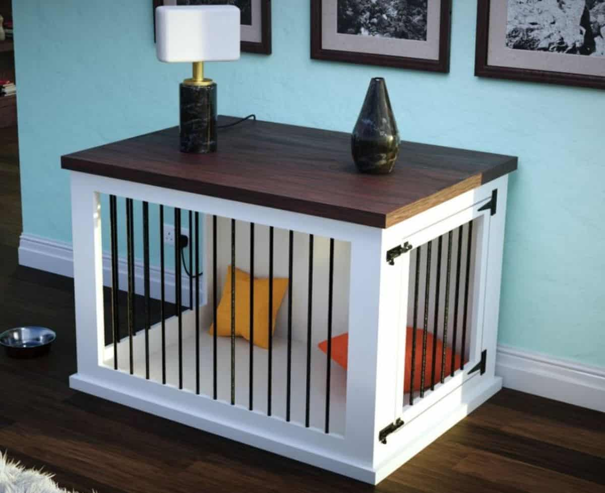 DIY dog crates with side doors