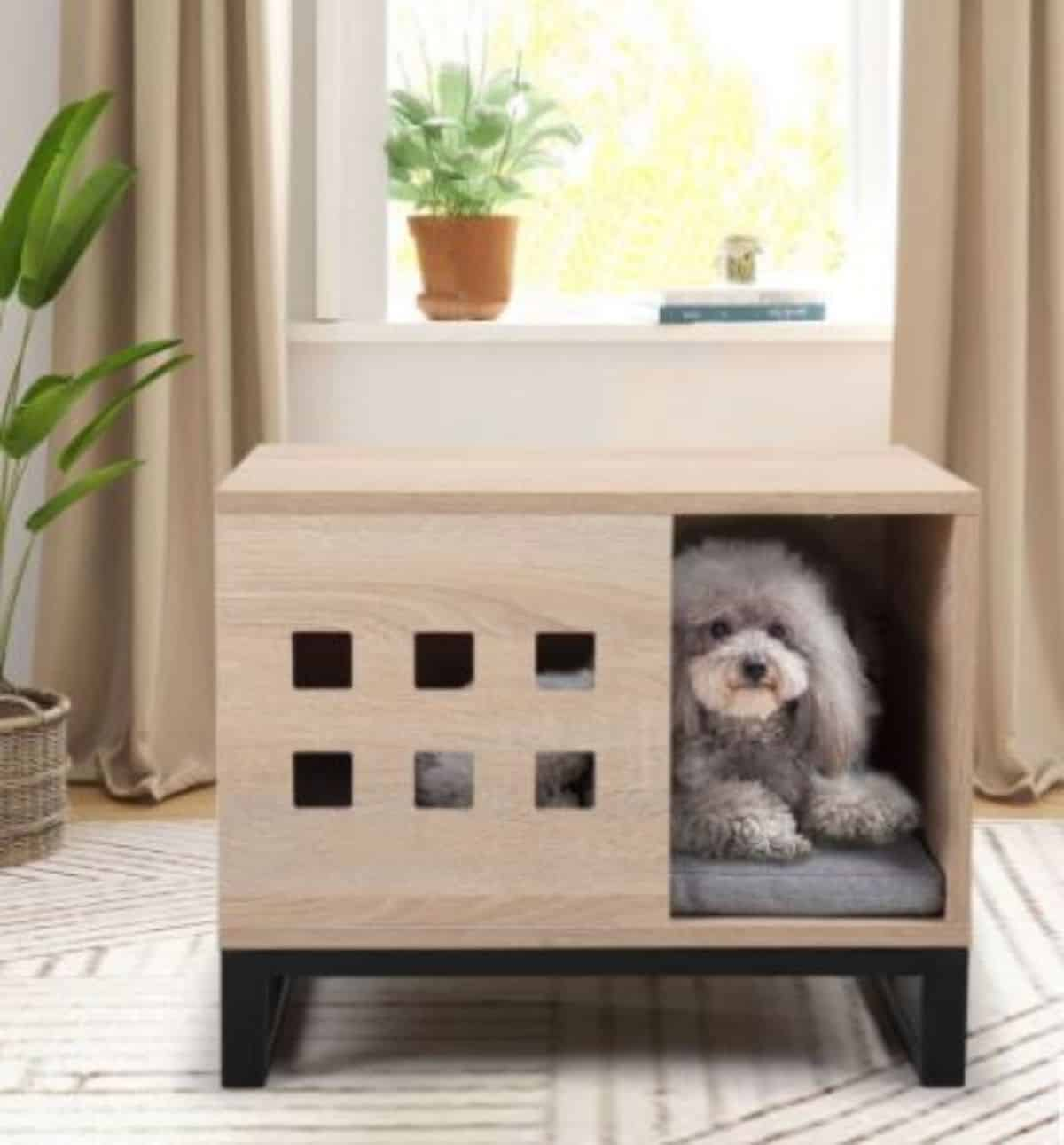 minimalist dog crate idea