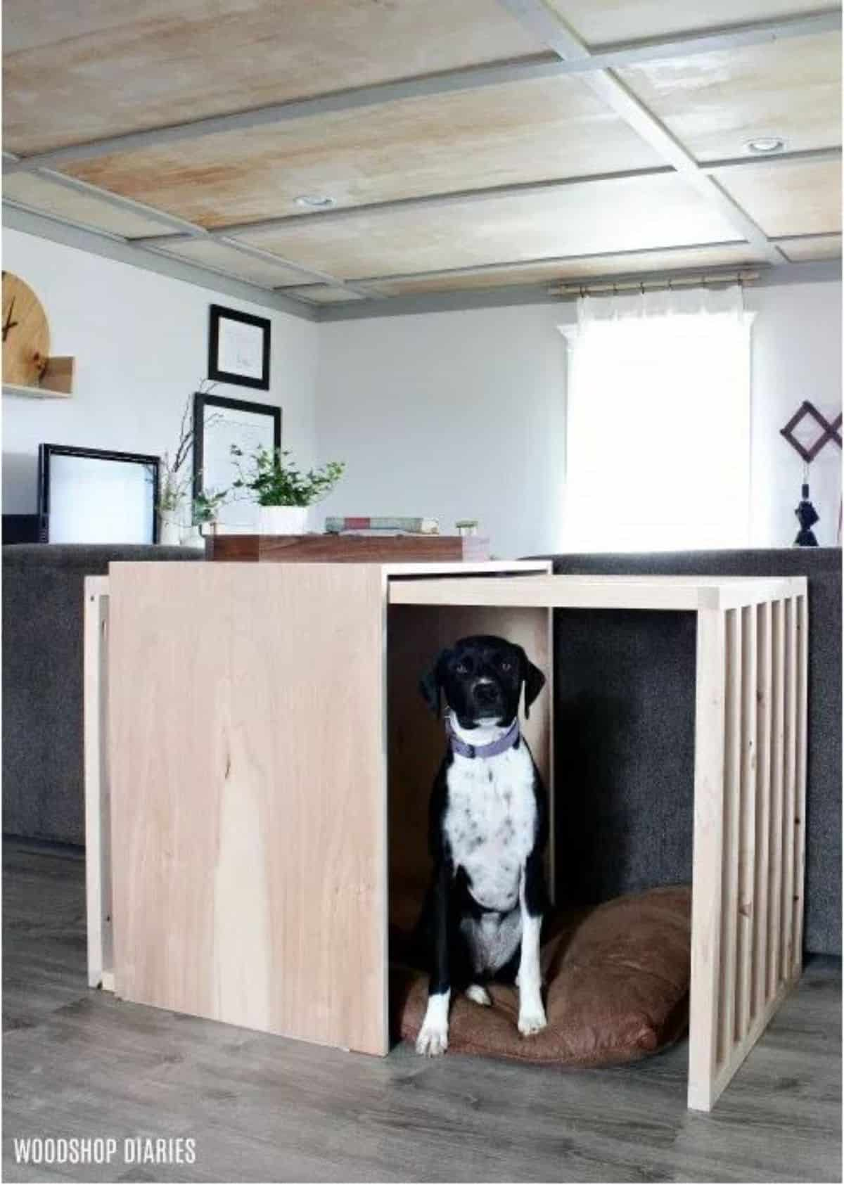 DIY sliding dog crate