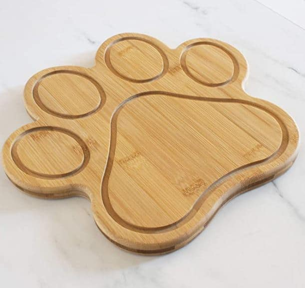 paw shaped serving or cutting board