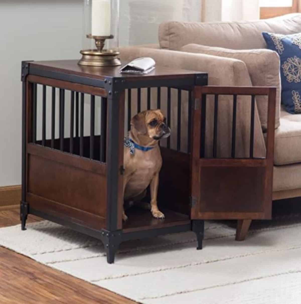 Rustic dog crate diy
