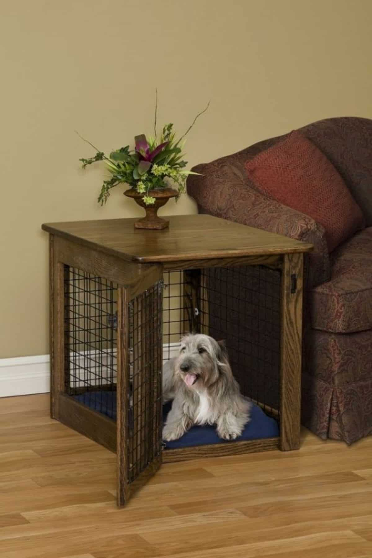 comfortable dog crate idea