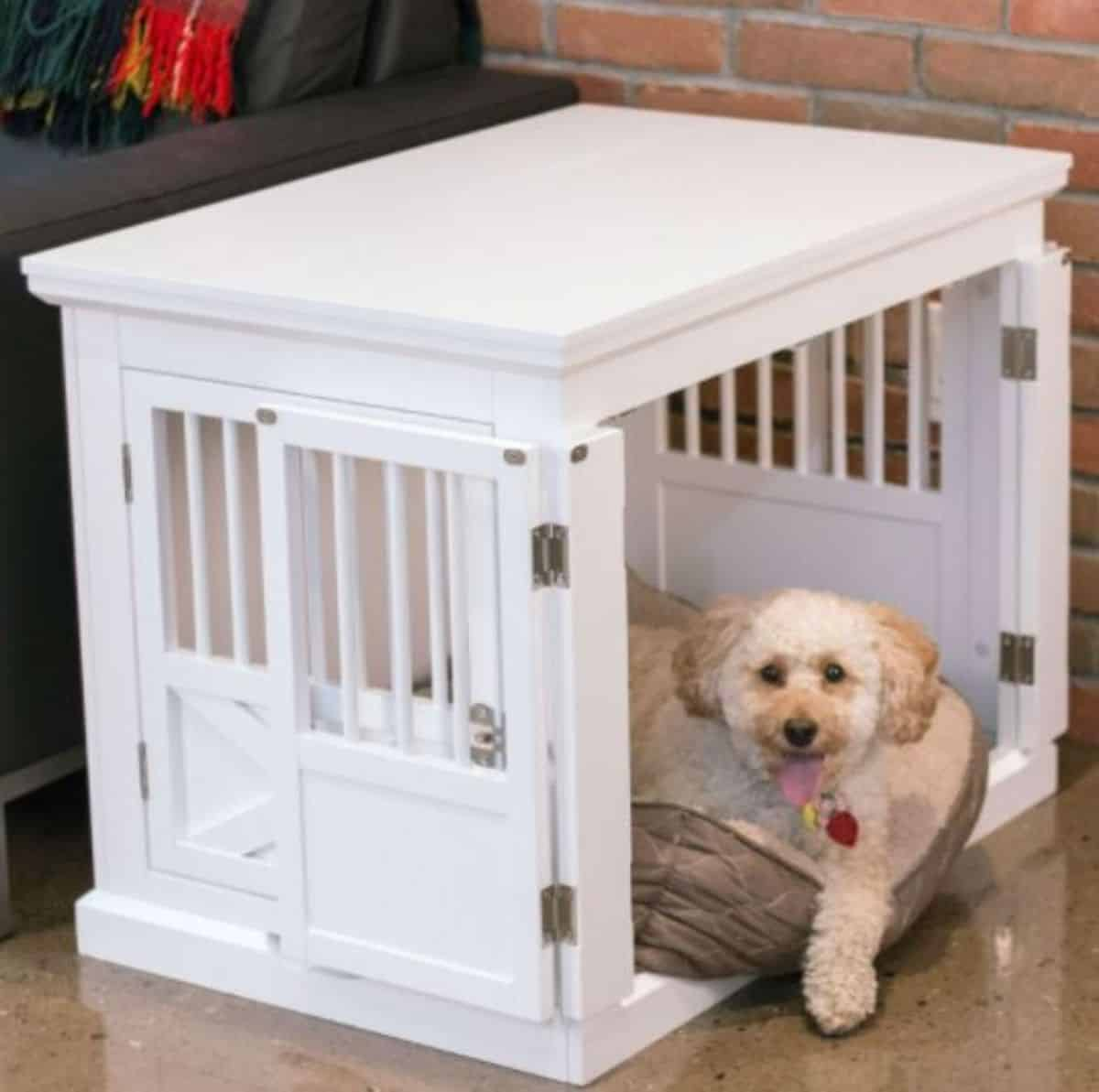 triple door end table dog Crate